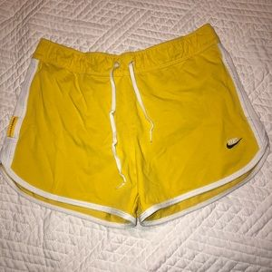 yellow cotton Nike shorts!